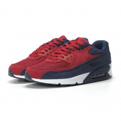 Adidași Air în denim și roșu pentru bărbați it250119-27 3