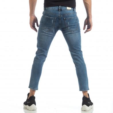 Blugi de bărbați albaștri cu imprimare de patch-uri it040219-5 4