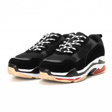 Adidași în negru și roșu pentru bărbați  it221018-41 3