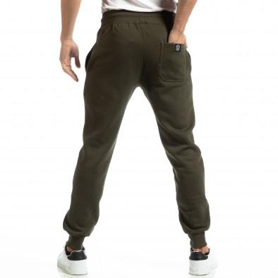 Pantaloni sport verzi groși pentru bărbați it261018-42 4