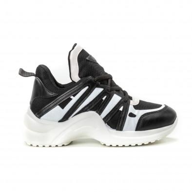 Pantofi sport pentru dama în negru-alb it150818-48 2