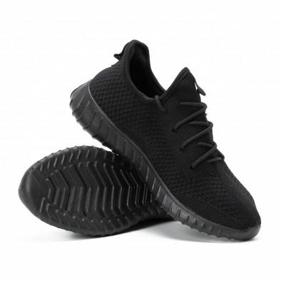 Adidași All black din material textil pentru bărbați model ușor it140918-10 4