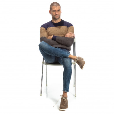 Blugi Slim fit albaștri pentru bărbați it261018-15 3