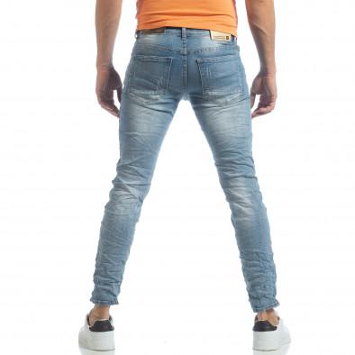 Blugi Slim fit în albastru deschis pentru bărbați it040219-12 4