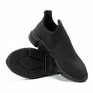 Adidași slip-on All black din neopren pentru bărbați it140918-15 4