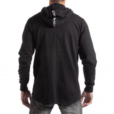 Hanorac negru model lung pentru bărbați it250918-62 3