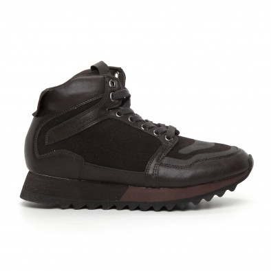 Pantofi sport înalți maro pentru bărbați it130819-26 2