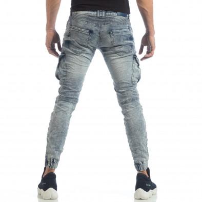 Washed Cargo Jeans pentru bărbați it040219-18 4