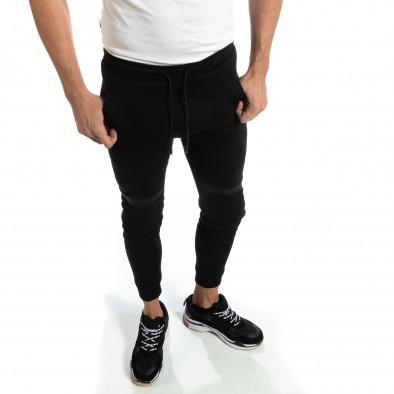 Jogger negru pentru bărbați it261018-38 2