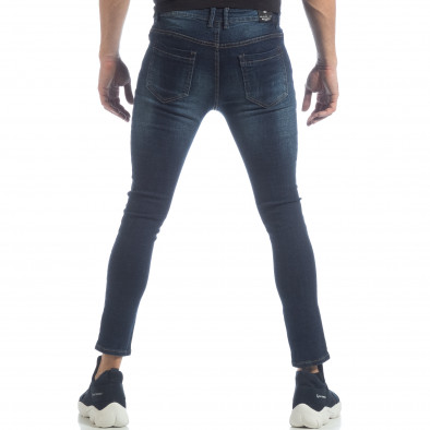 Skinny Jeans de bărbați model clasic albaștri it040219-8 3