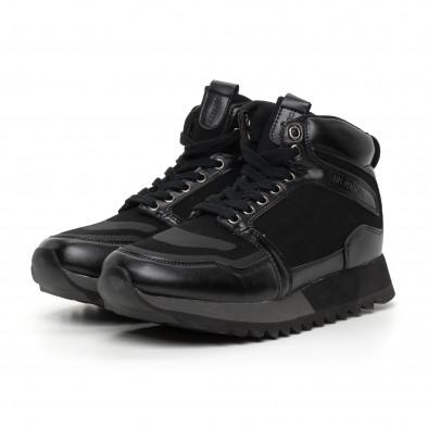 Pantofi sport înalți negri pentru bărbați it130819-23 3