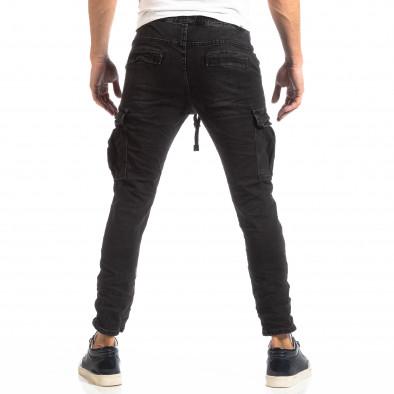 Cargo Jeans în negru pentru bărbați it261018-17 4