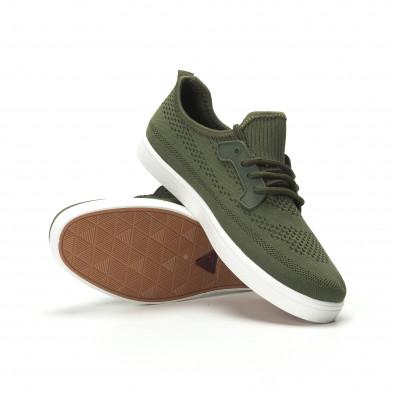 Pantofi sport ușori în verde militar pentru bărbați it250119-15 4