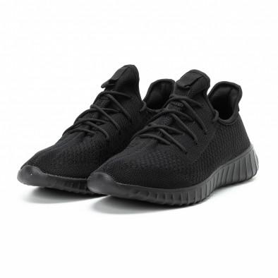 Adidași All black din material textil pentru bărbați model ușor it140918-10 3