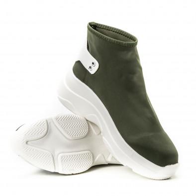 Pantofi sport fără șireturi pentru dama din neopren verde it150818-73 4