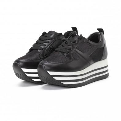 Pantofi sport cu platforma de dama cu părți strălucitoare it150818-29 3