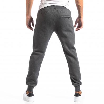 Pantaloni sport gri cu logo pentru bărbați it250918-41 4