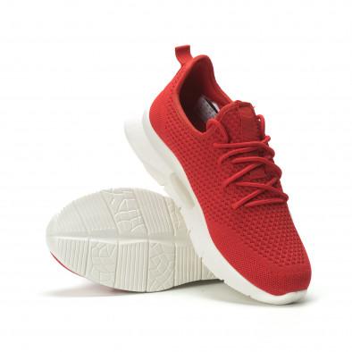 Adidași pentru bărbați Hole design roșii model ușor it250119-21 4