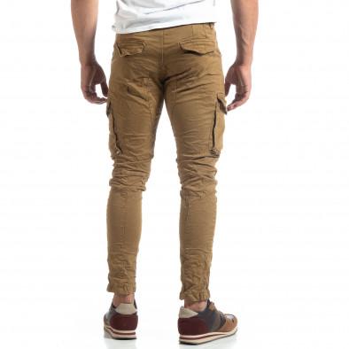 Pantaloni cargo kaki drepți pentru bărbați it170819-14 4