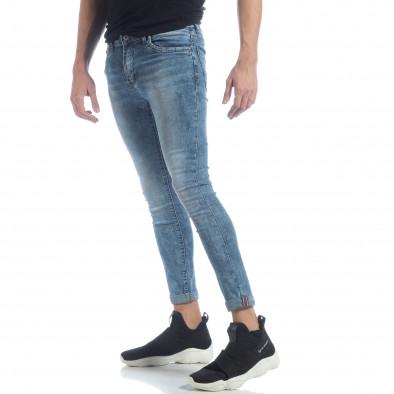 Skinny Washed Jeans albaștri pentru bărbați  it040219-7 2