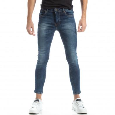 Blugi Skinny în albastru pentru bărbați it051218-1 2