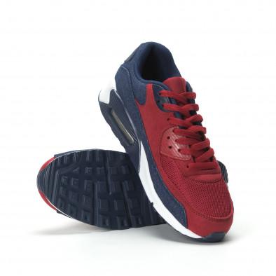 Adidași Air în denim și roșu pentru bărbați it250119-27 4