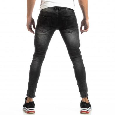 Worn Jeans în gri cu accente pentru bărbați  it261018-19 4