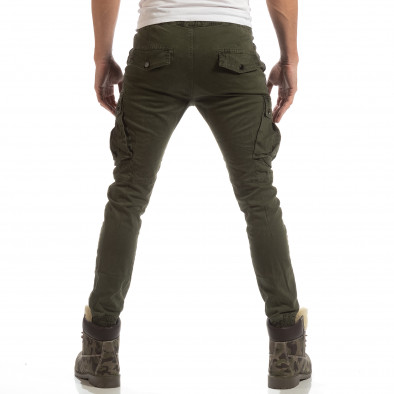 Cargo Jogger pentru bărbați verde cu banda it261018-28 4