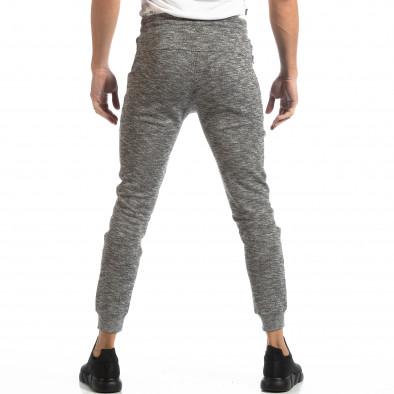 Jogger pentru bărbați din tricot în melanj gri it261018-36 4