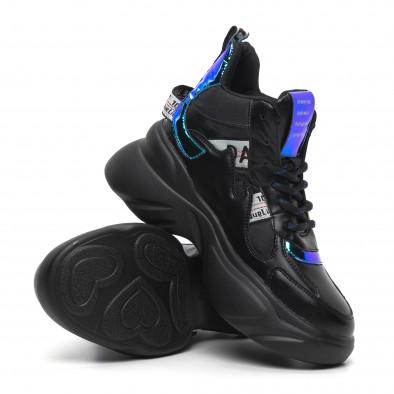 Pantofi sport de dama înalți cu accente neon it260919-64 5