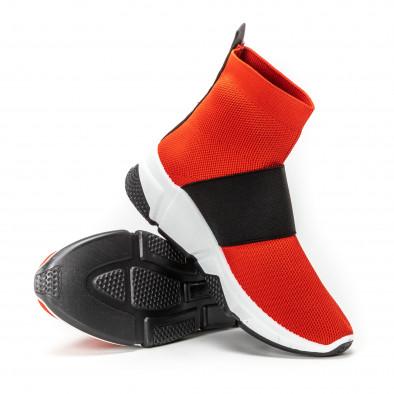 Teniși Slip-on roșii  pentru dama it150818-42 4