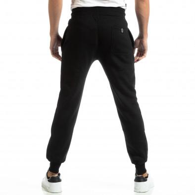 Pantaloni sport pentru bărbați negri cu inscripție it261018-43 4