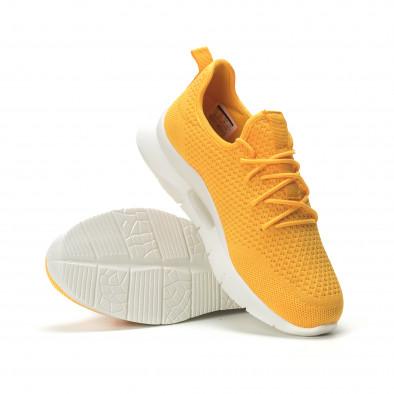 Adidași pentru bărbați Hole design galbeni model ușor it250119-25 4