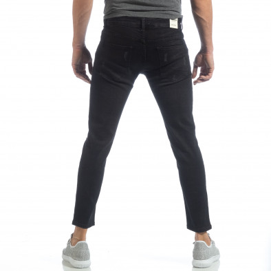 Blugi elastice de bărbați Slim fit negri  it040219-19 4