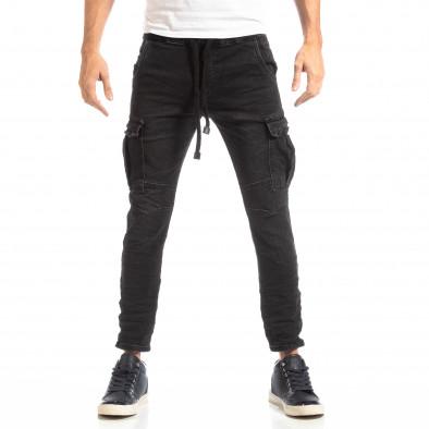 Cargo Jeans în negru pentru bărbați it261018-17 3