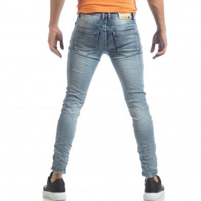 Washed Slim Jeans albaștri pentru bărbați it040219-13 4