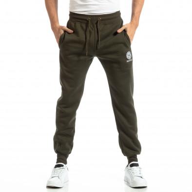 Pantaloni sport verzi groși pentru bărbați it261018-42 3