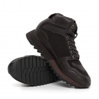 Pantofi sport înalți maro pentru bărbați it130819-26 4