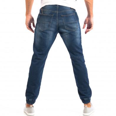Blugi albaștri pentru bărbați House cu elastic la glezna lp060818-47 3