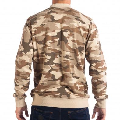 Hanorac camuflaj pentru bărbați CROPP cu fermoar lp080818-24 3