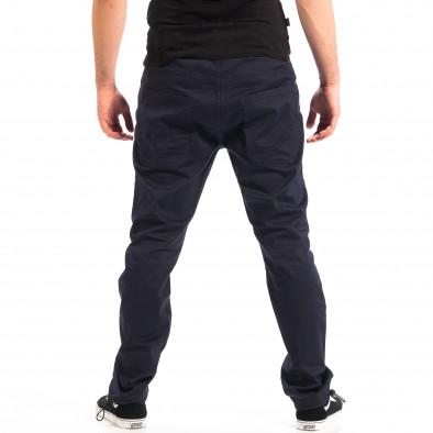 Pantaloni albaștri pentru bărbați CROPP cu elastic la glezna lp060818-125 3