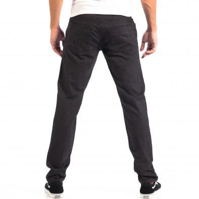 Pantaloni Slim pentru bărbați RESERVED în melanj negru lp060818-111 3