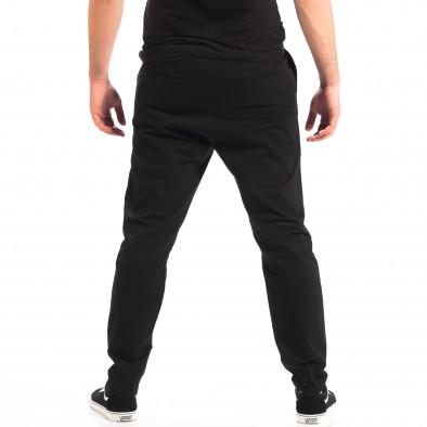 Pantaloni negri Cropped Chino pentru bărbați lp060818-121 3