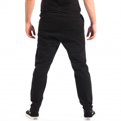 Pantaloni negri Cropped Chino pentru bărbați RESERVED  lp060818-121 3