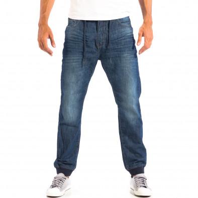 Blugi House Jogger albaștri pentru bărbați  lp060818-35 2