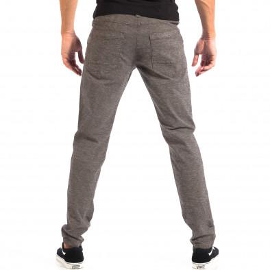 Pantaloni Slim pentru bărbați RESERVED în melanj gri lp060818-105 3