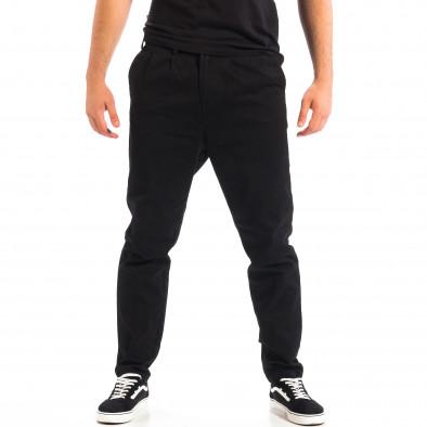 Pantaloni negri Cropped Chino pentru bărbați lp060818-121 2