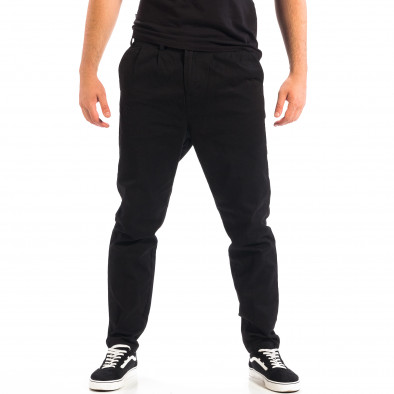 Pantaloni negri Cropped Chino pentru bărbați RESERVED  lp060818-121 2