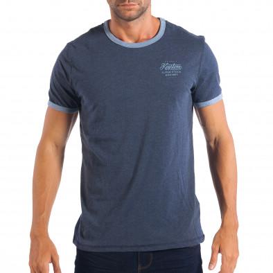 Tricou albastru pentru bărbați RESERVED  lp070818-10 2