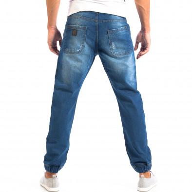 Blugi Jogger albaștri cu rupturi pentru bărbați CROPP  lp060818-31 3
